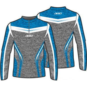 SPRINT JERSEY UNISEX with front zipper (blue/grey)