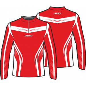 SPRINT JERSEY UNISEX with front zipper (red/white)